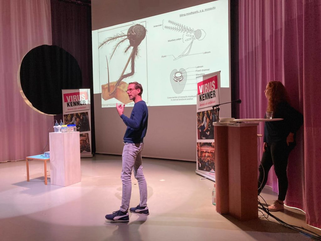 Picture: Sander Koenraadt and Charlotte Linthout presenting during the Masterclass.